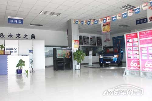 福通福田4S店 外观展厅 走访福通汽车4S店 实拍福田的商务大气