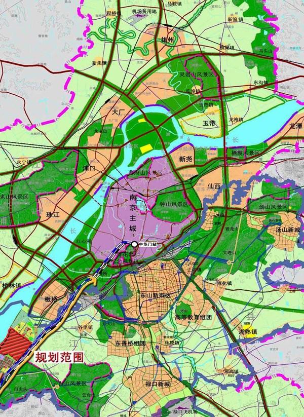 江北新区规划建铁路南京北站 推进城市化