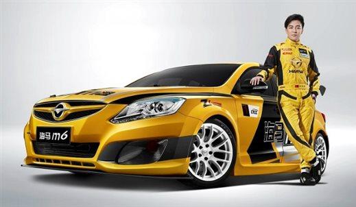 本次活动车队用车为ctcc海马m6赛车同款改装车.